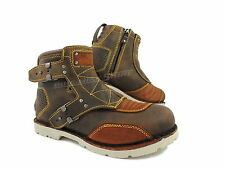 ICON 1000 BOAT EL BAJO Motorcycle boots Leather brown / brown Size 41 - 48,5