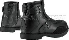 ICON BOAT EL BAJO Motorcycle boots Leather black / black Size 41 - 48,5