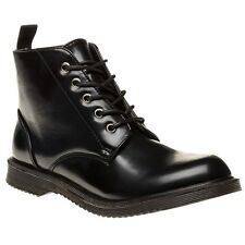 New Womens SOLESISTER Black Sledge Synthetic Boots Ankle Lace Up
