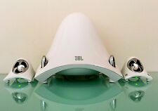 JBL Creature II Desktop Computer PC Powered Stereo Speakers Subwoofer in White