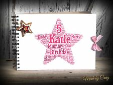 A4 Personalised Birthday Scrapbook, Photo Album/Book, Guest Book, Guestbook
