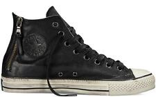 Converse X by John Varvatos Chuck Taylor Side Zip Black Leather Sneakers 147373C