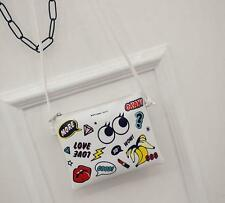 New Fashion cartoon printed envelope clutch bag PU shoulder bag Messenger bag