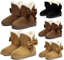 Womens Faux Suede Fur Martin Snow Boots Flats Non-slip Warm Ankle Boots Shoes