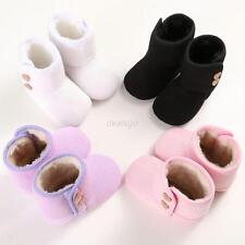 Toddler Baby Warm Winter Boots Soft Sole Crib Shoes Knitting Snow Booties 0-18M