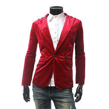 Men Coat Casual Outwear One Button Suit Outwear Corduroy Solid Color Jacket Tops