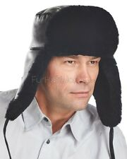 Mouton Sheepskin Russian Military Hat -Brand: frr -Made in Canada