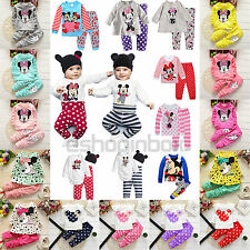 Minnie Mouse Boys Outfit Hoodie Kid Girl Clothes Jumpers Top Leggings Pants 0-9T