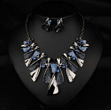 Crystal Statement Jewelry Chunky Chain Choker Bib Women New Necklace Pendant