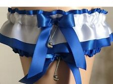 Wedding Garter Set Bridal Garter Set Blue and White Garter Set - Bin601