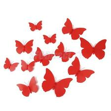 12x 3D Artificial Butterfly w/Sticker Craft Wedding Wall Home DIY Decor 7 Colors