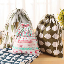 Travel Pouch Cotton Linen Drawstring Storage Bag Cloth Craft Folk Custom New