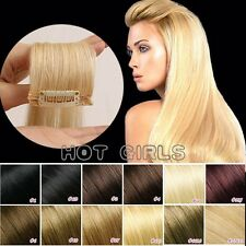 Real THICK 250g++ Double Weft Clip In Remy Human Hair Extensions Full Head HQ630