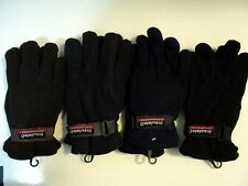 Mens Fleece Winter Gloves Thermal Insulated Wrist Strap One Size Fits Most