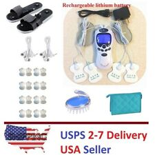 TENS Unit Tens Massager Digital Therapy Acupuncture Machine Dual Outputs VI