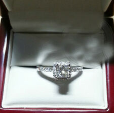 SZ 5-10 Jewelry 10kt white gold filled Princess cut white topaz Wedding Ring