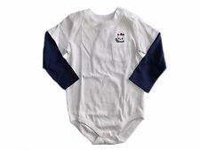NWT Boy's Gymboree Tiny Panda bear ivory blue long sleeve shirt ~ 3 6 12 months