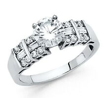 2.0 Ct Diamond 14k Solid White Gold Engagement/Wedding Ring Solitaire