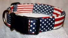 American Flags USA Adjustable Dog Collars & Martingales & Leashes & Cat Collars