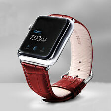 For Apple Watch 38mm/42mm Luxury Leather Watch Band Strap Bracelet Wristband New
