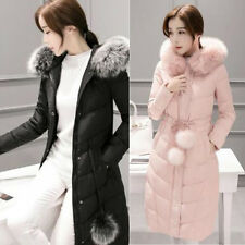 New Women Winter Long Down Coat Warm Hooded Down Jacket Parka Trench Outerwear