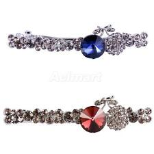 Jewelry Fashion Hair Clips Spring Full Rhinestone Metal Hairpin Clip Barrette