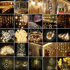 Warm White Christmas Wedding Xmas Party Decor LED Fairy String Lights In/Outdoor