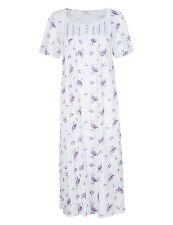 Ex M&S Short Sleeved Floral Nightdress / Nightie / Nighty in Sizes 12 to 26