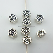 160/1400Pcs Tibetan silver DIY Crafts Jewelry Making Flower Spacer Beads 5x2.5mm