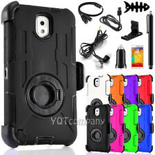 For Samsung Galaxy S4 Note 3 4 5 Hybrid Rugged Hard Protective Case Cover +Clip