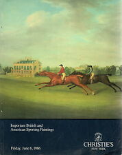 Christie's Catalogue: Important Sporting Art, Thursday, 06 June 1986, New York