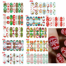 New Christmas Nail Art Stickers 3D Design Manicure Tips Decals Wraps Decoration