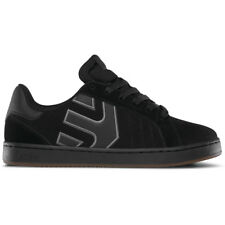 "Etnies ""Fader LS"" Shoes (Black/Charcoal/Gum) Men's Nubuck Skateboarding Sneakers"