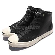 Converse Jack Purcell Jack Mid Leather Black White Men Shoes Sneakers 154148C