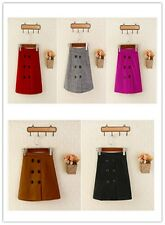 Girls Autumn Winter New Fashion Slim Solid Down Above Knee Mini A-Line Skirts