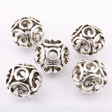 Practical 10/20Pcs Tibetan Silver Loose Spacer Beads Jewelry Finding 11x10mm