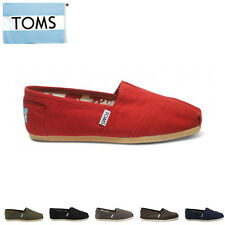 TOMS Canvas Womens Classics BLACK, BLUE, GRAY, GREEN, RED, WHITE, COFFEE
