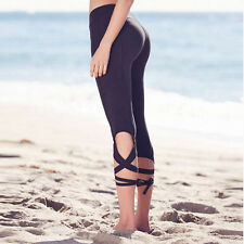 Women YOGA Pants Workout Gym Sport Leggings Fitness Stretchy High Waist New S261