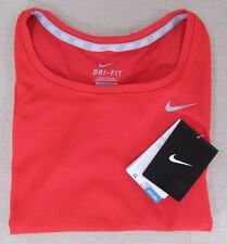 NIKE Youth Girl's Dri-Fit Running Performance Athletic Shirt Red S, M, L NEW NWT
