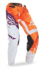 FLY Racing Kinetic Crux 2017 Youth MX/Offroad Pants Orange/White/Purple
