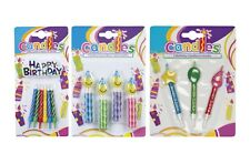 BIRTHDAY CAKE CANDLES {Boland} (Cake Decoration/Kids/Party/Multicolour/Glitter)