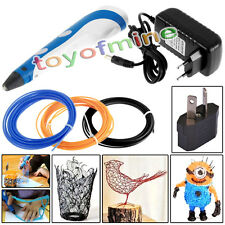 3D Printing Pen Stereoscopic Drawing Arts Crafts 15 colors 50g 20m ABS Filaments
