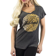 Headrush Women's Leopard Circle T-Shirt - Grey