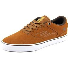 Emerica The Reynolds Low Vulc Men  Round Toe Suede Brown Skate Shoe