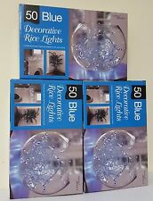 Xmas Lights 50 Warm LED Indoor Plugin Decorative Fairy Rice 1,2 or 3 Boxes