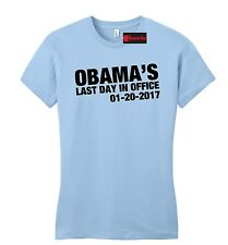 Obama's Last Day In Office Juniors T Shirt President Republican Anti Obama
