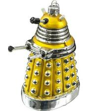 Kurt S. Adler Doctor Who - Dalek Glass Xmas Ornament - 5 Inch (Yellow)