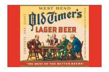 """""""West Bend Old Timer's Lager Beer"""" Print [ID 619768]"""
