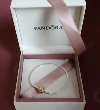 NEW! Authentic Pandora ESSENCE Silver w/14K Gold Bracelet #596003 $320