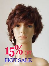 Fashion women Lady full wig girls' wigs hairpiece 100% Real natural human hair